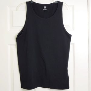H&M regular fit sleeveless tank black
